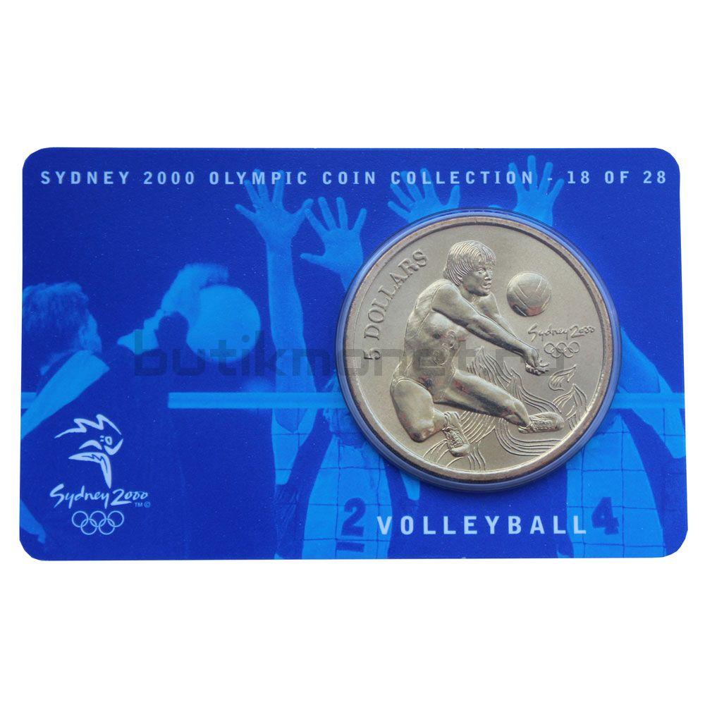 5 долларов 2000 Австралия Волейбол (Олимпийские игры в Сиднее)