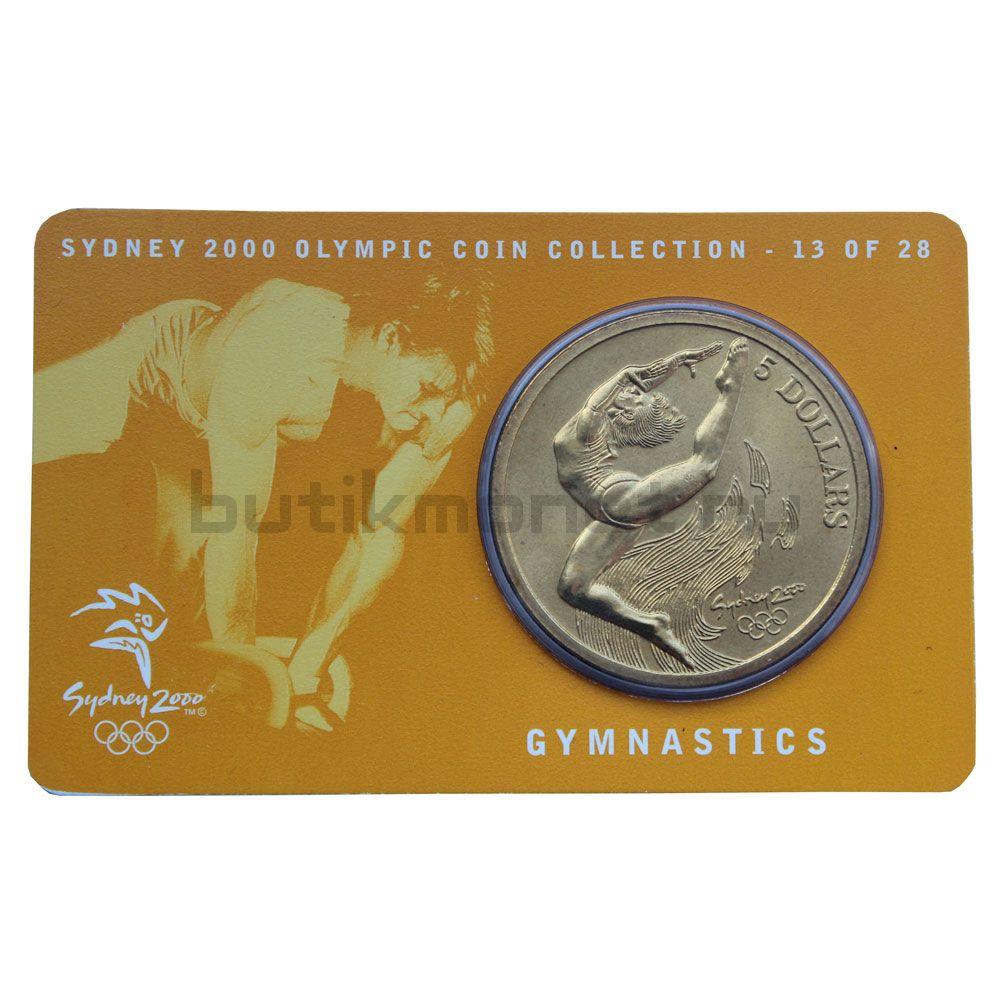5 долларов 2000 Австралия Гимнастика (Олимпийские игры в Сиднее)