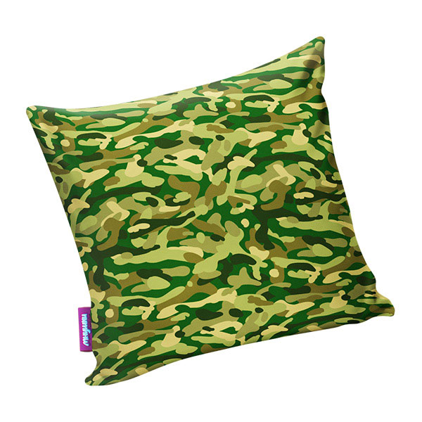 Подушка игрушка Камуфляж стандарт зеленая
