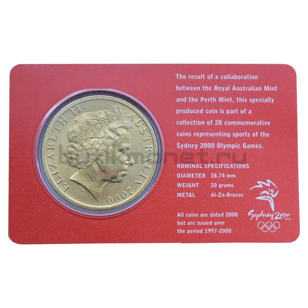5 долларов 2000 Австралия Настольный теннис (Олимпийские игры в Сиднее)