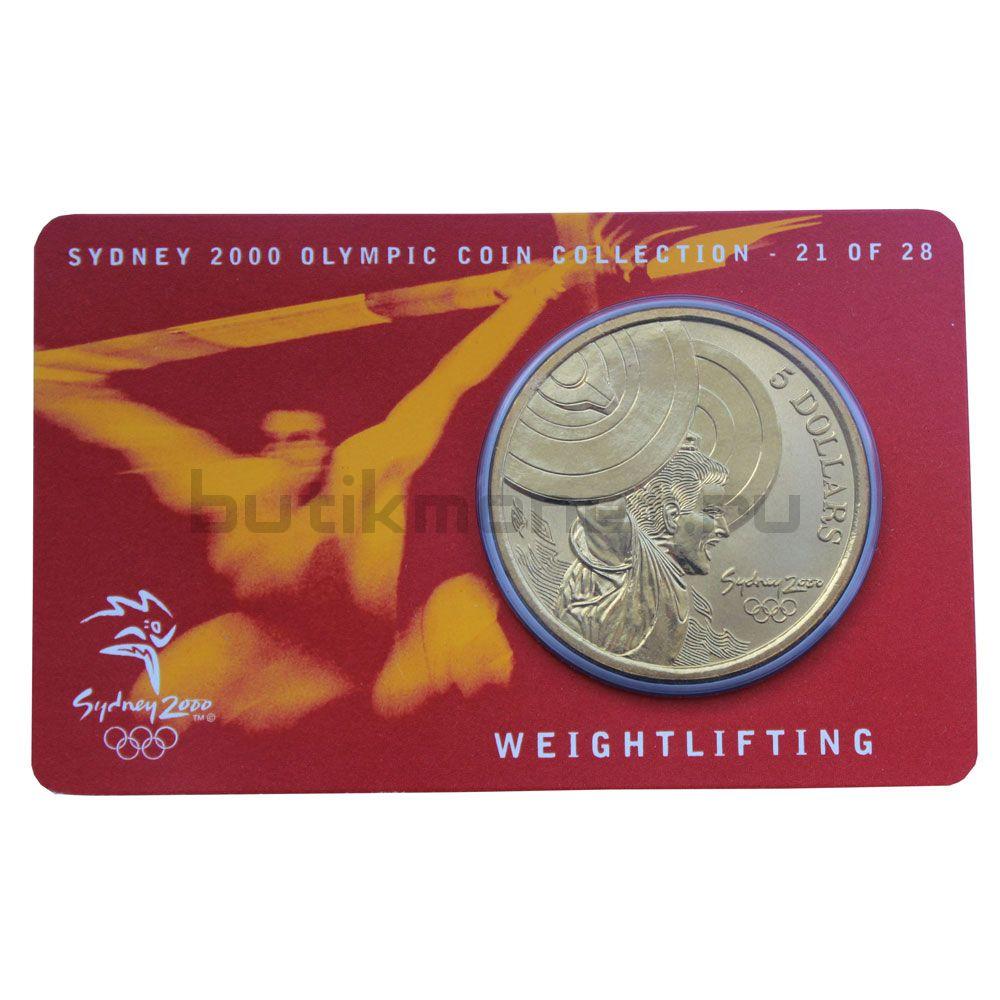 5 долларов 2000 Австралия Тяжёлая атлетика (Олимпийские игры в Сиднее)