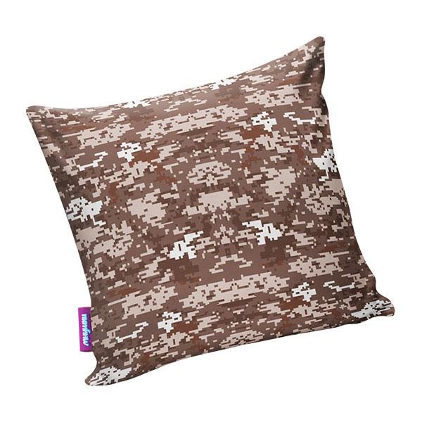 Подушка игрушка Камуфляж цифра коричневая