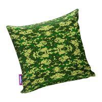 Подушка игрушка Камуфляж цифра зеленая