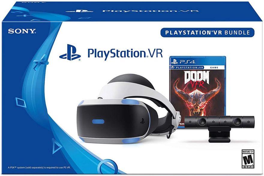 Sony Playstation VR CUH-ZVR2 + Camera V2 + Doom(PS4)