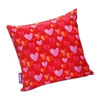 Подушка игрушка Сердечки красная