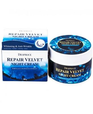 Крем для лица ночной восстанавливающий DEOPROCE MOISTURE REPAIR VELVET NIGHT CREAM 100гр