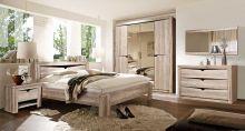 Спальня ГАРДА 4-дверный шкаф, светлый, темный