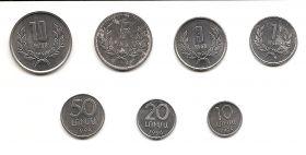 Набор монет Армения 1994