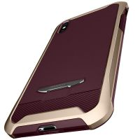 Чехол Spigen Reventon для iPhone X золотой металлик