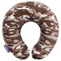 Подушка под шею Камуфляж стандарт, коричневая