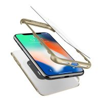 Чехол Spigen Thin Fit 360 для iPhone X золотой