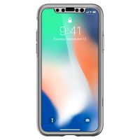 Чехол Spigen Thin Fit 360 для iPhone X серебристый