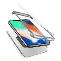 Чехол SGP Spigen Thin Fit 360 для iPhone X серебристый
