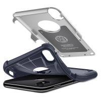 Чехол Spigen Hybrid Armor для iPhone X серебристый