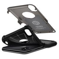 Чехол Spigen Hybrid Armor для iPhone X стальной