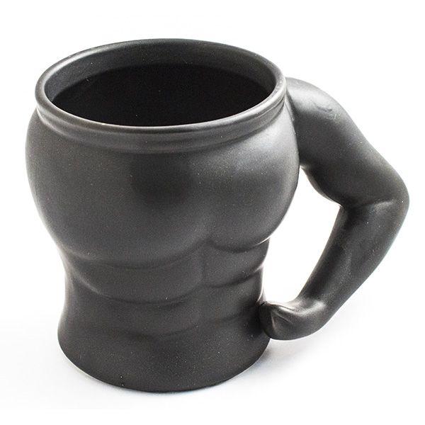 Кружка Культурист (1 бицепс) черная N 1