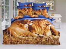 Комплект постельного белья Сатин  3D эффект  2-спальный  Арт.KE242/29
