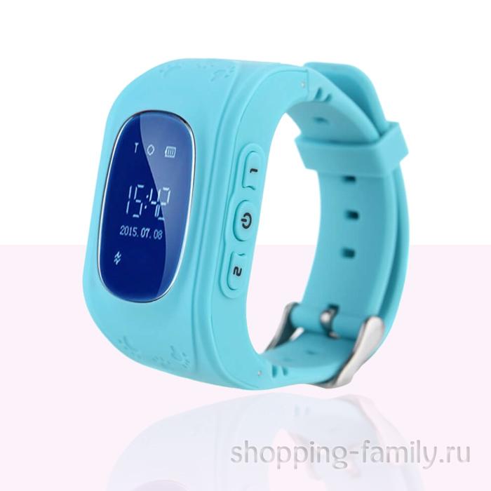 Умные детские часы с GPS Smart Baby Watch Q50 голубые