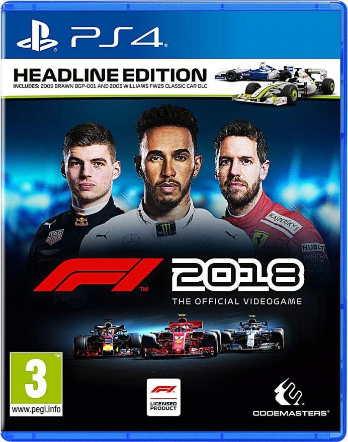 Игра F1 2018 Издание Герой заголовков (PS4)
