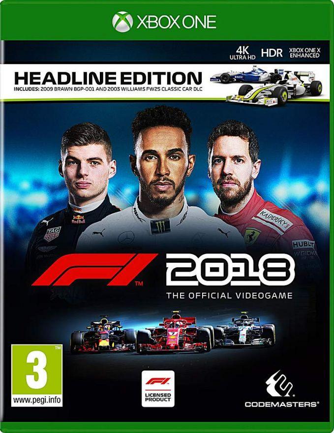 Игра F1 2018 Издание Герой заголовков (Xbox One)