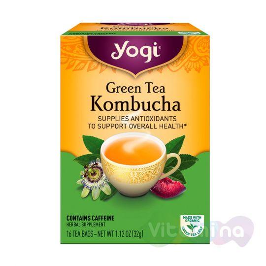 Yogi Tea Зеленый чай с Чайным Грибом, 16 пакетиков