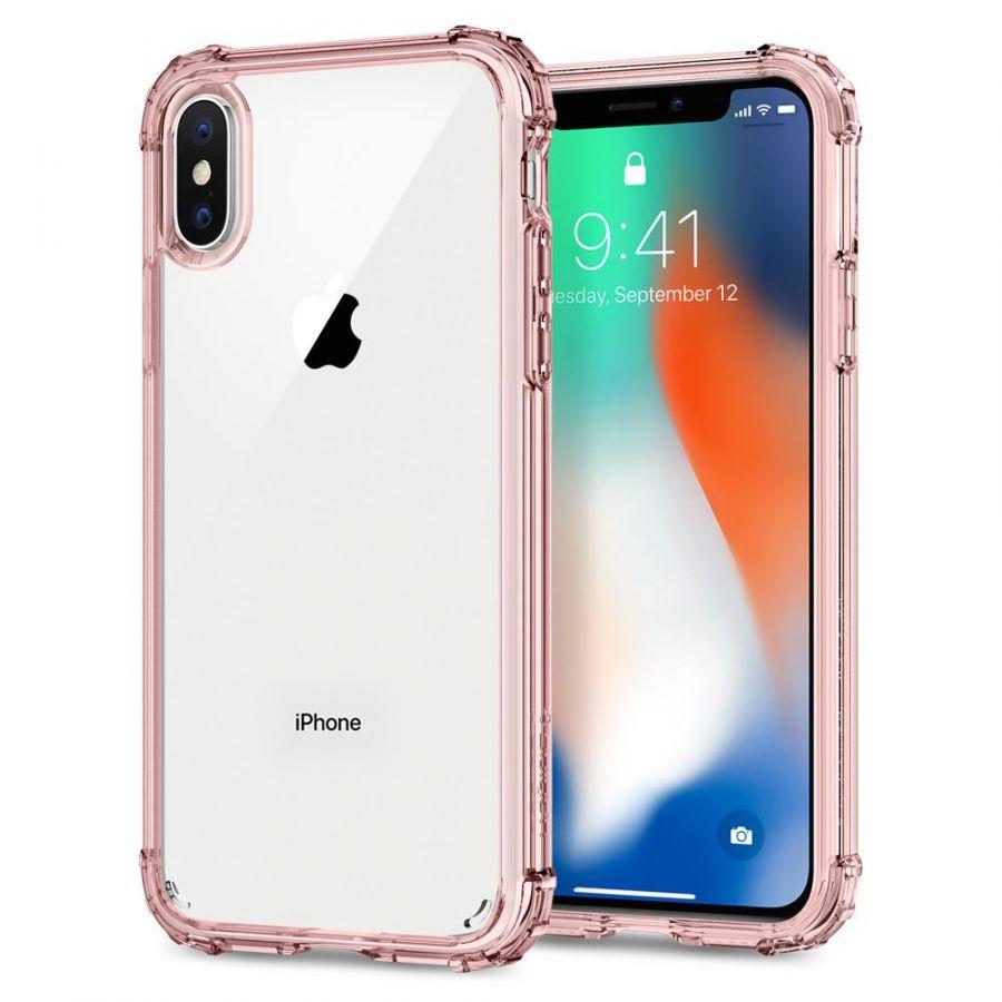 Чехол SGP Spigen Crystal Shell для iPhone X/XS кристально-розовый