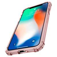 Чехол Spigen Crystal Shell для iPhone X кристально-розовый