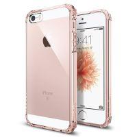 Чехол SGP Spigen Crystal Shell для iPhone 5/5S/SE кристально розовый