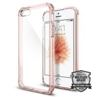 Чехол Spigen Crystal Shell для iPhone 5/5S/SE кристально-розовый