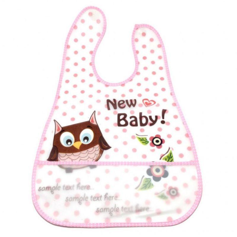 Детский Нагрудник Waterproof Baby, цвет розовый