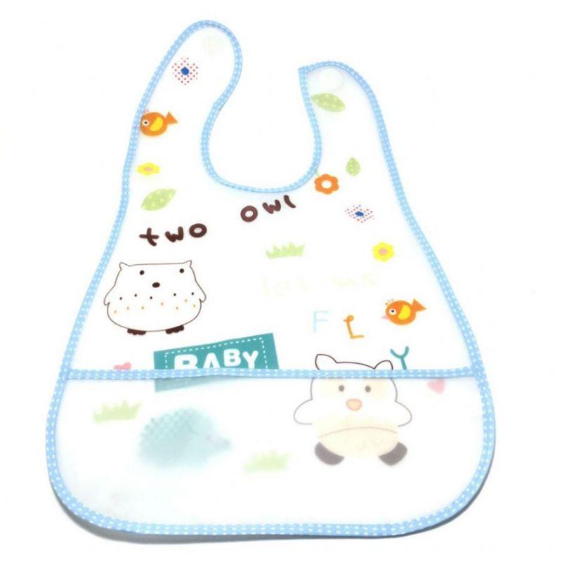 Детский Нагрудник Waterproof Baby, цвет голубой