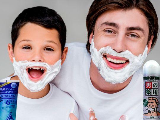 Для, и после бритья