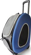 Ibiyaya Складная сумка 3 в 1 (сумка, рюкзак, тележка) синяя