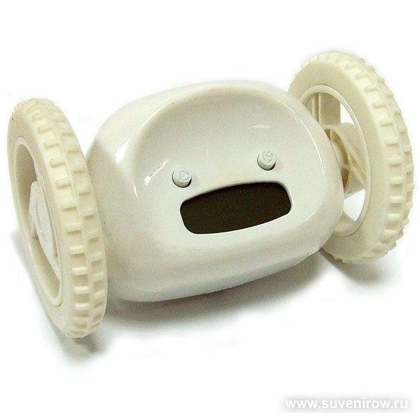 Часы будильник Инопланетянин белый
