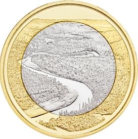 Природные ландшафты реки Оуланкайоки 5 евро Финляндия 2018