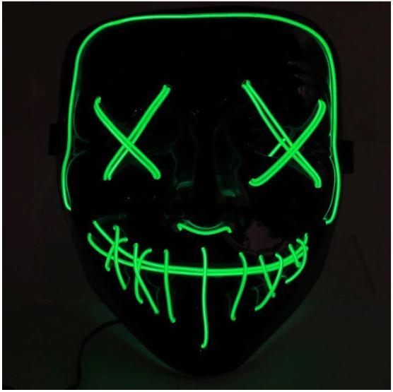 Неоновая маска Судная ночь, цвет зеленый