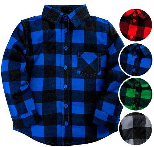 "Рубашка клетчатая ""Bonito"" детская 5-8 лет за 357 руб BJ012"