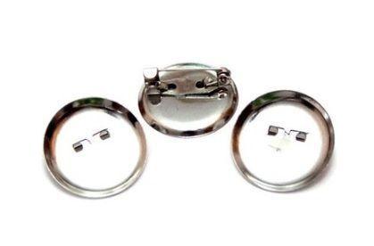 Основа для броши, круглая, 25 мм, 4 шт/упак