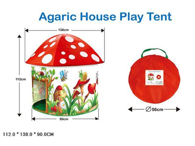 Палатка домик игровой Гриб Мухомор HF016