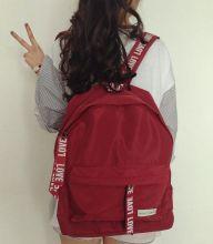 Рюкзак женский красный Love