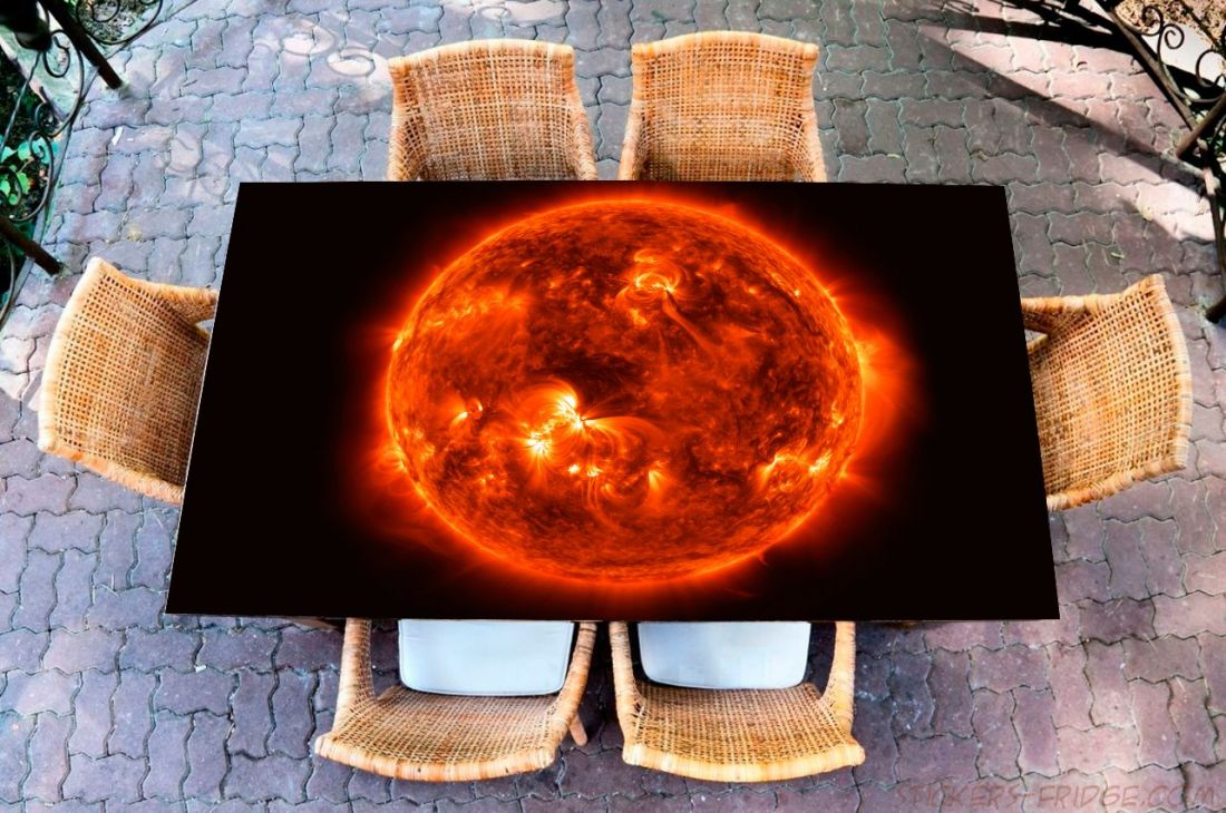 Наклейка на стол - Солнце
