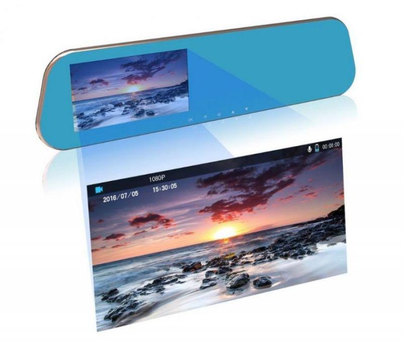 Видеорегистратор с камерой заднего вида HD Touch Dual Lens Driving Recorder