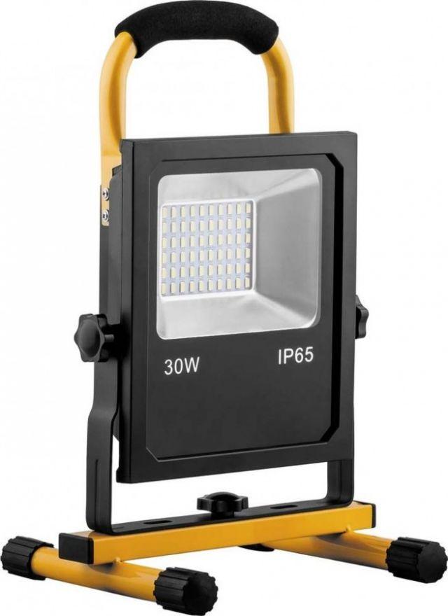 Feron Прожектор св/д переносной с зарядным устройством 30W, 6400K, 60*SMD5730, IP65, LL-913 32089