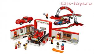 Конструктор Lari Speeds Гараж Ferrari 10947 (75889) 883 дет