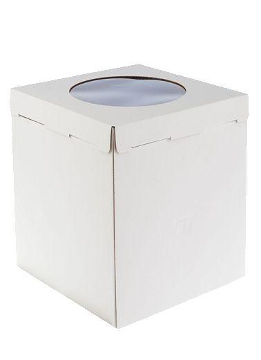 Коробка бел 300*300/350 С ОКНОМ