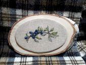 """Схема для вышивки крестом """"Голубика"""". Отшив."""