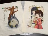 "Cross stitch patterns ""Totoro"" and ""Spirited away 2""."