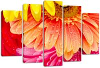 Модульная картина Цветные лепестки