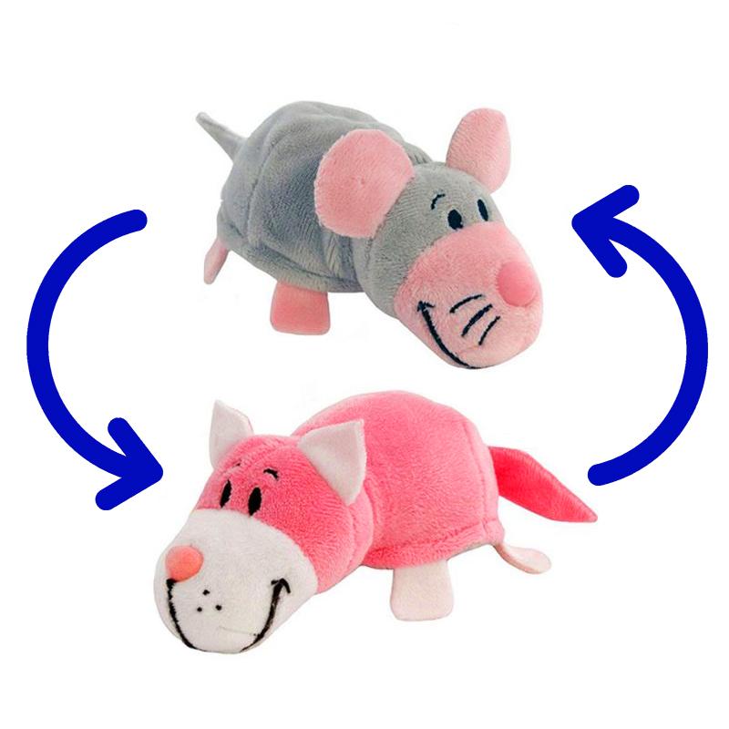 Игрушка-Перевертыш 2в1 Мышка-Кот 40 см