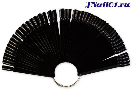 Дисплей для лаков 50 штук сборный на кольце, черный